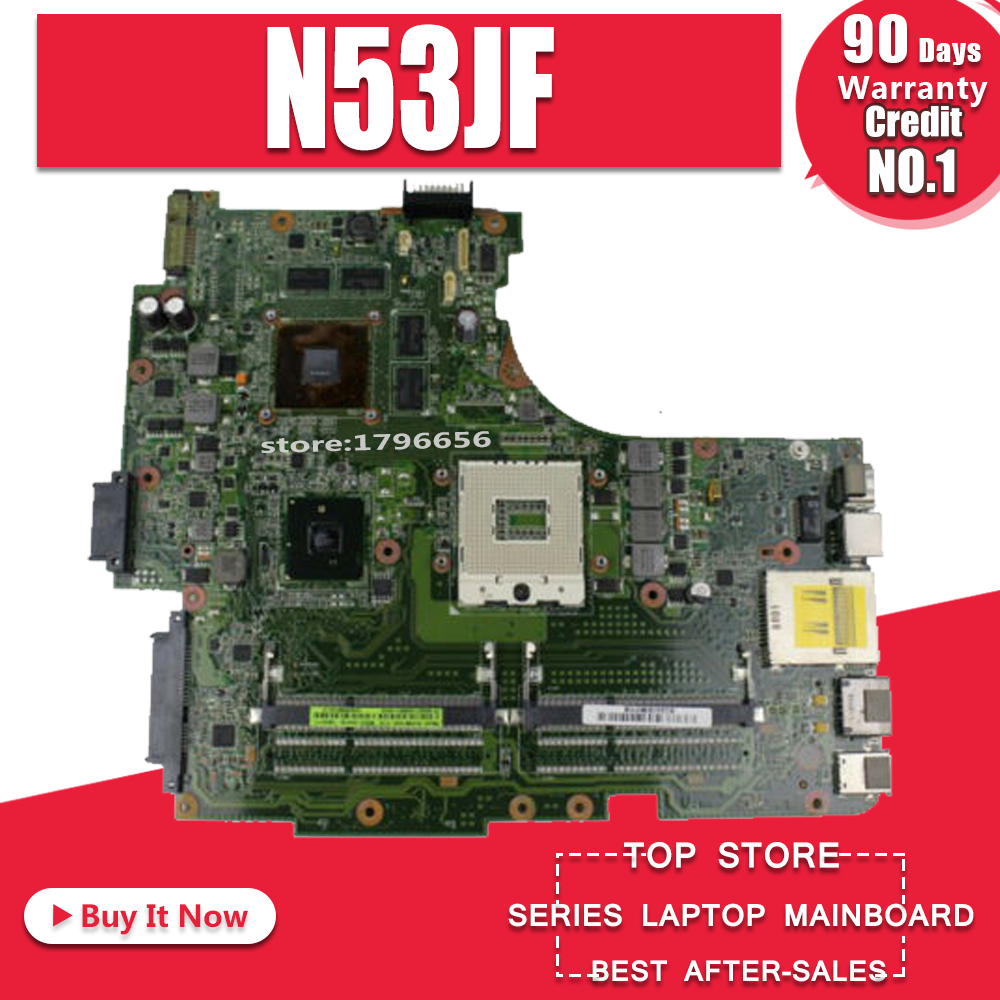N53JQ for ASUS Laptop Motherboard N53JF N53JG HM55 With GT425M 1G  4 RAM Slots Mainboard fully tested & work