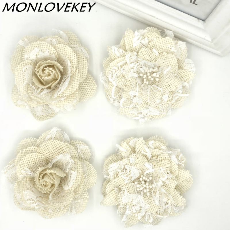 Event & Party Learned New Vintage White Flower Bow Lace Jute Linen Hessian Burlap Country Event Party Supplies Bouquet Wedding Placemat Table Runner Skilful Manufacture