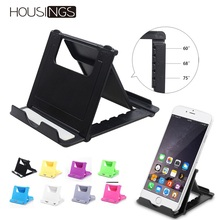 Foldable Mobile Phone Holder Stand Universal Portable For Smartphones Multi-angle Adjust Lazy Desktop iPhone 7 Bracket
