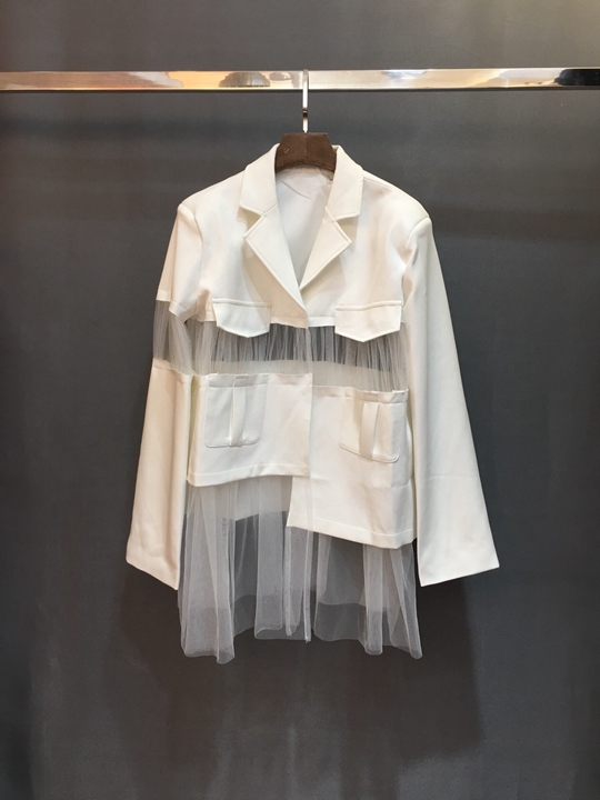 Personnalité Gaze Gamme Poche Court Sort Blanc Mode Nouveau 226 De La 2019 Manteau Haut Femmes zgXqxZ