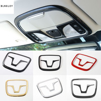 2pcs/lot ABS chrome or carbon fiber grain front reading light panel decoration cover for 2014 2016 Jeep Cherokee
