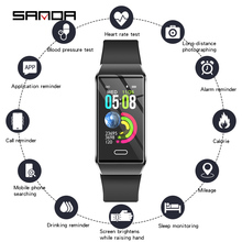 יוקרה סיליקון חכם שעון נשים Bluetooth קצב לב צג לחץ דם כושר Tracker גבירותיי Smartwatch עבור IOS אנדרואיד
