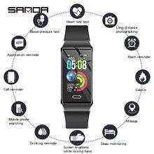 ซิลิโคนสมาร์ทนาฬิกาผู้หญิงบลูทูธ Heart Rate Monitor ความดันโลหิตฟิตเนส Tracker สุภาพสตรี Smartwatch สำหรับ IOS Android