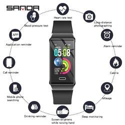Luksusowy silikonowy inteligentny zegarek kobiet monitor tętna bluetooth pomiar ciśnienia krwi panie smartwatch dla ios Android