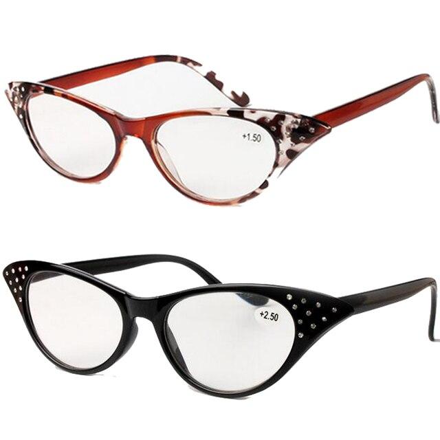 Señoras Diseñador Del Ojo de Gato Gafas de Lectura Mujeres Marco de ...