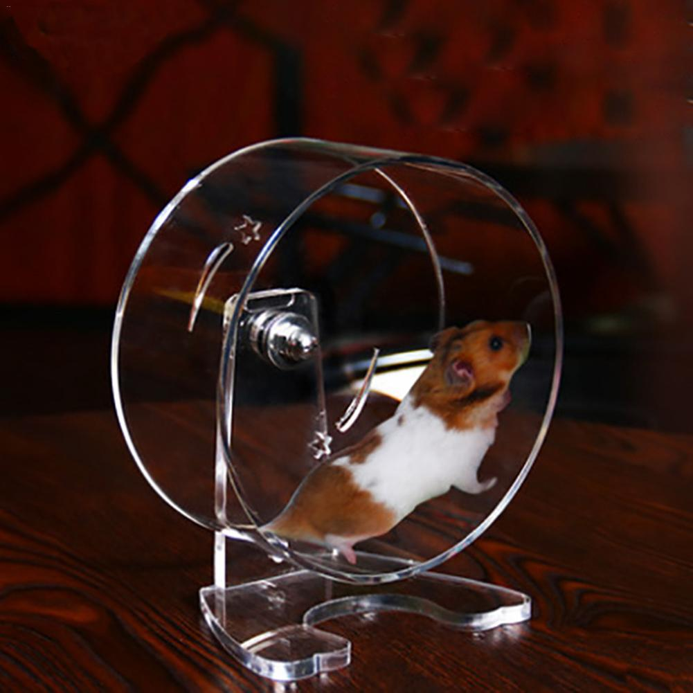 New Transparent Acrylic Hamster Wheel Running Treadmill Wheel Running Large Squirrel Chinchilla Wheel Running Small Pet Hedgehog