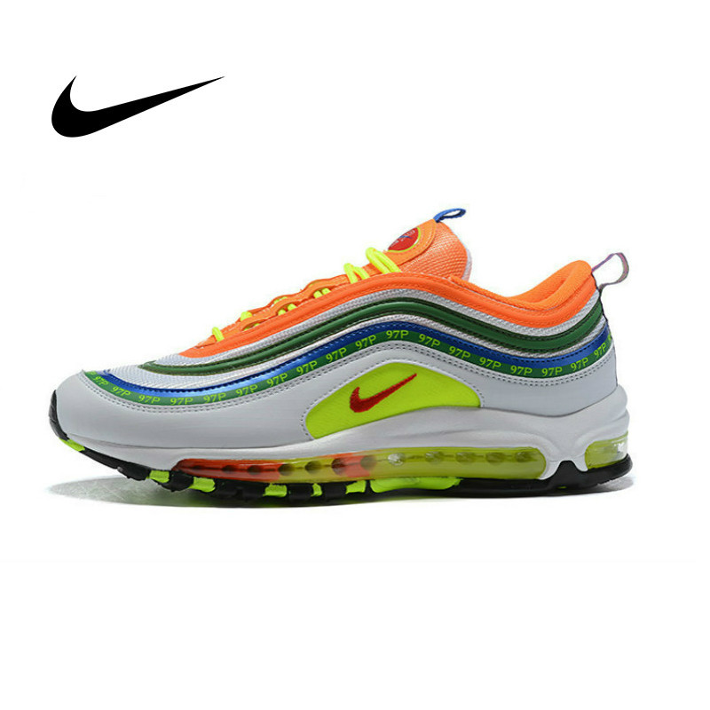 Original Authentic Nike Air Max 97 OG QS Men's Running Shoes Sneakers Classic Outdoor Sports 2019 New Jogging Walking AJ1986-401