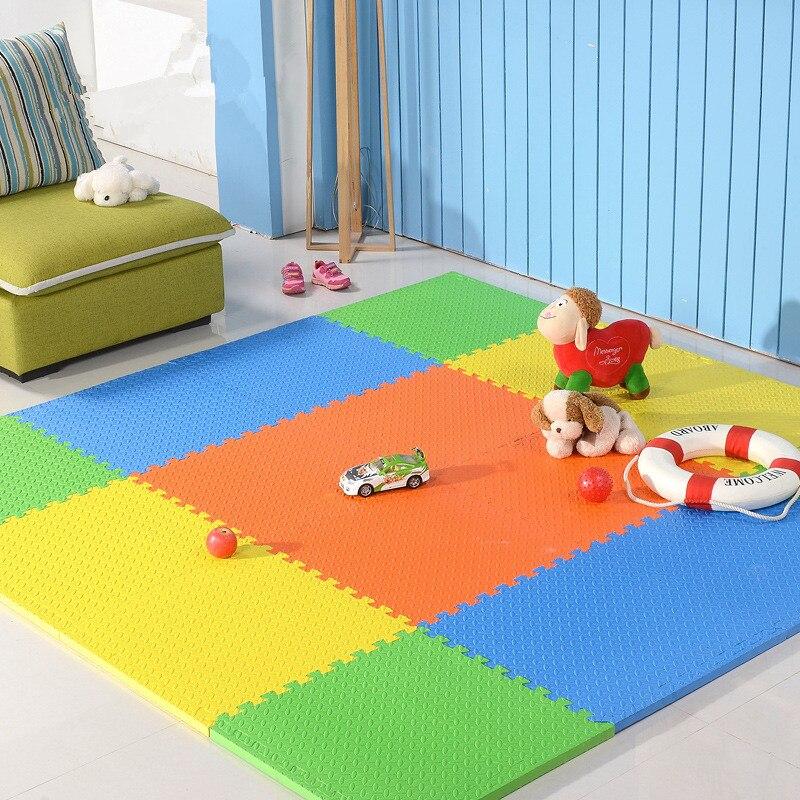 1PCS 30x30cm Baby Puzzle Carpet Baby Play Mat Floor Puzzle Mat EVA Children Foam Carpet Mosaic Floor Play Mats 8 Color