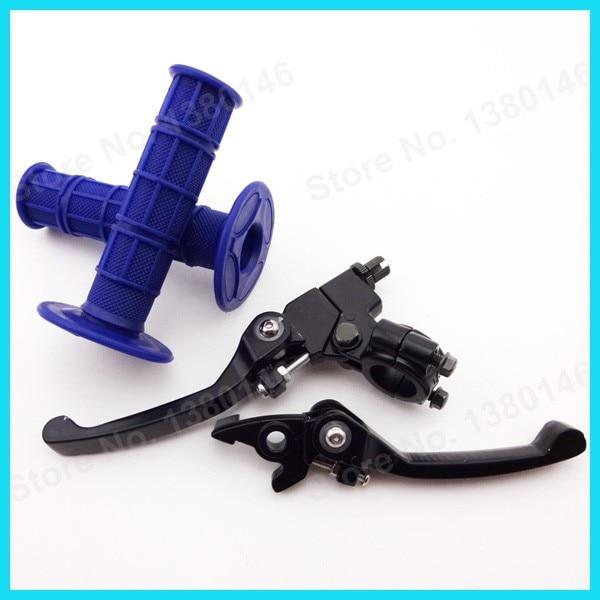 Синий ручные рукоятки& складной сцепные рычаги для китайских Dirt Pit Bike мини-Мотокросс Мотоцикл CRF50 SSR в китайском стиле
