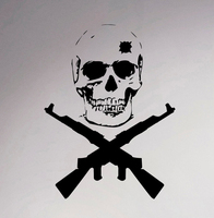 Military Emblems Wall Vinyl Decal Skull Weapons Creative Sticker Home Interior Bedroom Decor Armed Forces Mural