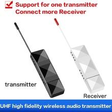 EarRise UHF HiFi беспроводной аудио цифровой передатчик приемник с 3,5 аудио кабели для проектора компьютера усилитель мощности