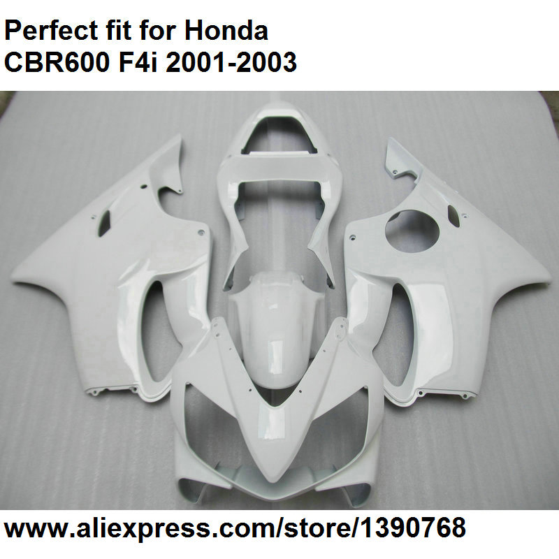 ABS plastic fairings for Honda CBR 600 F4i 2001 2002 2003 white fairing kit CBR600F4i 01 02 03 OL110