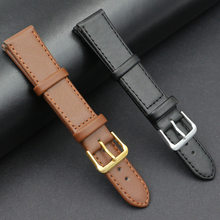 Correa de reloj de piel sintética para hombre y mujer, accesorios masculinos, negro, marrón, 12mm, 14mm, 16mm, 18mm, 20mm, 22mm, 24mm