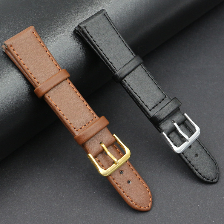 Men&Women PU leather strap watch band Black Brown <font><b>12mm</b></font> 14mm 16mm 18mm 20mm 22mm 24mm watch strap Relogio Masculino Accessories image