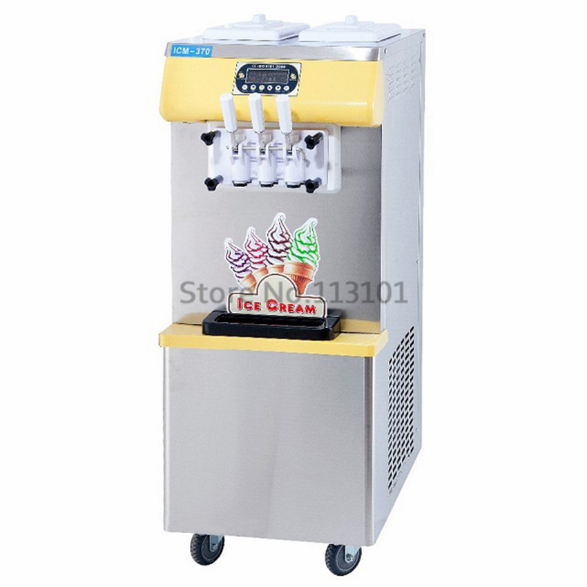 110V/60Hz specs Commercial Soft Ice Cream Machine Brand New with Three Colors for 110V countries tokyobay specs t366 wh