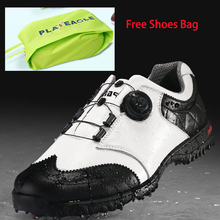 2017 New Design Men's Genuine Leather Anti-skid Waterproof EVA Golf Shoes Sports  Sneakers with One Free Shoes  Bag Gift