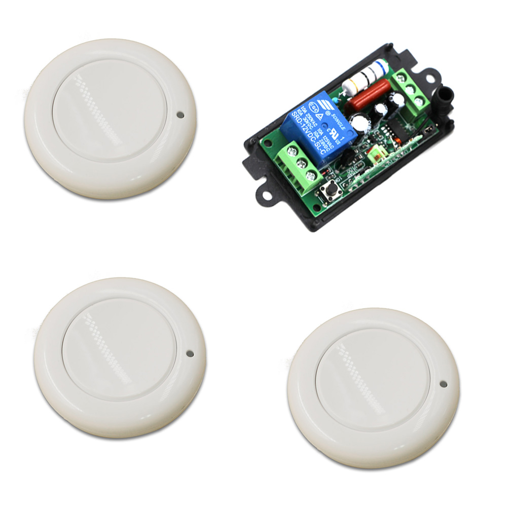 315mhz 433mhz Wireless Remote Control Switch 110V 220V 1CH Relay Receiver Module and RF Wall Round Remote Controls new arrival ac 110v 220v relay 1ch wireless remote control switch receiver module and rf remote controls 315 433mhz
