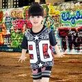 Детская Хип-Хоп Танец Костюм Хип-Хоп Танец Одежда Детей Джаз Одежда Улица Танцевальные DS одежда