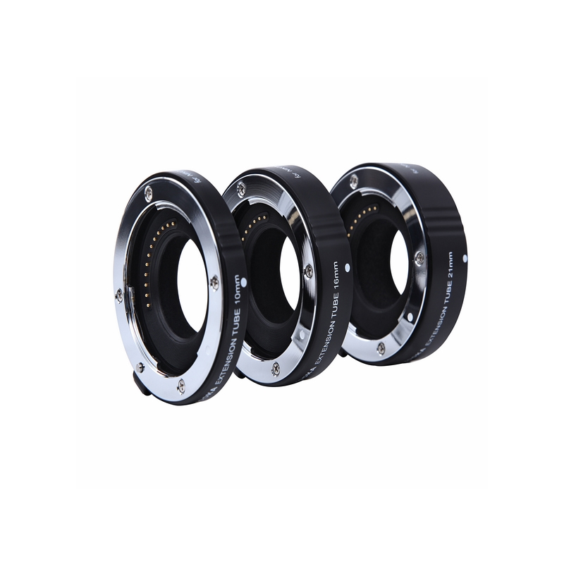 Kooka KK-NM47A Aluminium AF Auto Focus TTL Extension Tube Set for Nikon 1 Mount SLR Camera Close-up Macro Photography Image macro extension tube for sony e mount ac ms silver grey