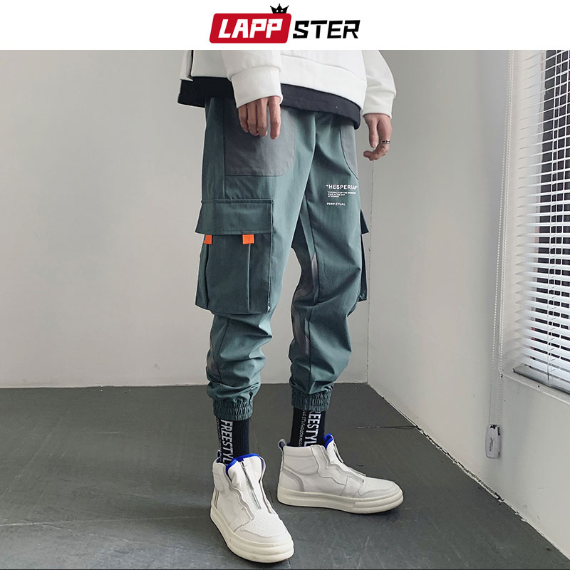 LAPPSTER Hip Hop Joggers Pants Men 2019 Mens Japanese Streetwear Harem Pants Male Black Casual Sweaptpants Fashion Trousers
