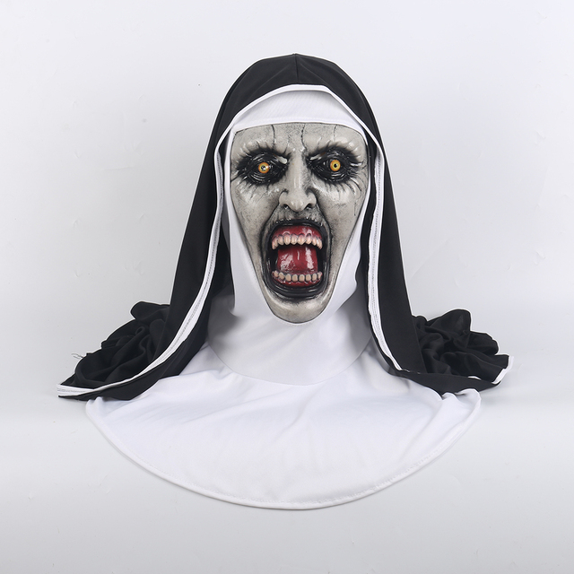 2018 The Nun Horror Mask Cosplay Valak Scary Masks With Headscarf