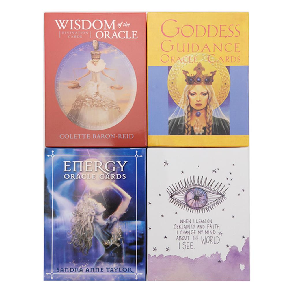 4 Styles English Oracle Cards Deck Tarot Cards Guidance Divination Fate Board Game Card Game For Women