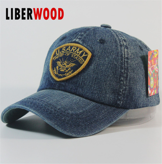 8d14c9ed09a U.S. Army Patrol Cap United States US USA Country Denim Jean Curved Bill Hat  Cap Patch hat Adjustable Baseball Cap Vintage Hat