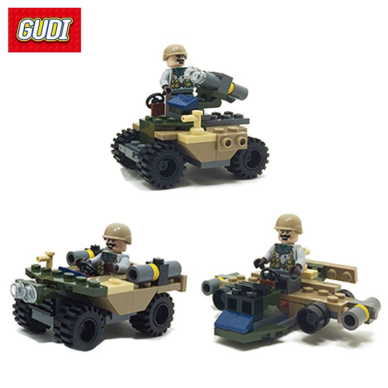 3 in1 Building Blocks Models & Building Toy Airborne Chariot Attack Aircraft Missile Military Model DIY Assembly Bricks