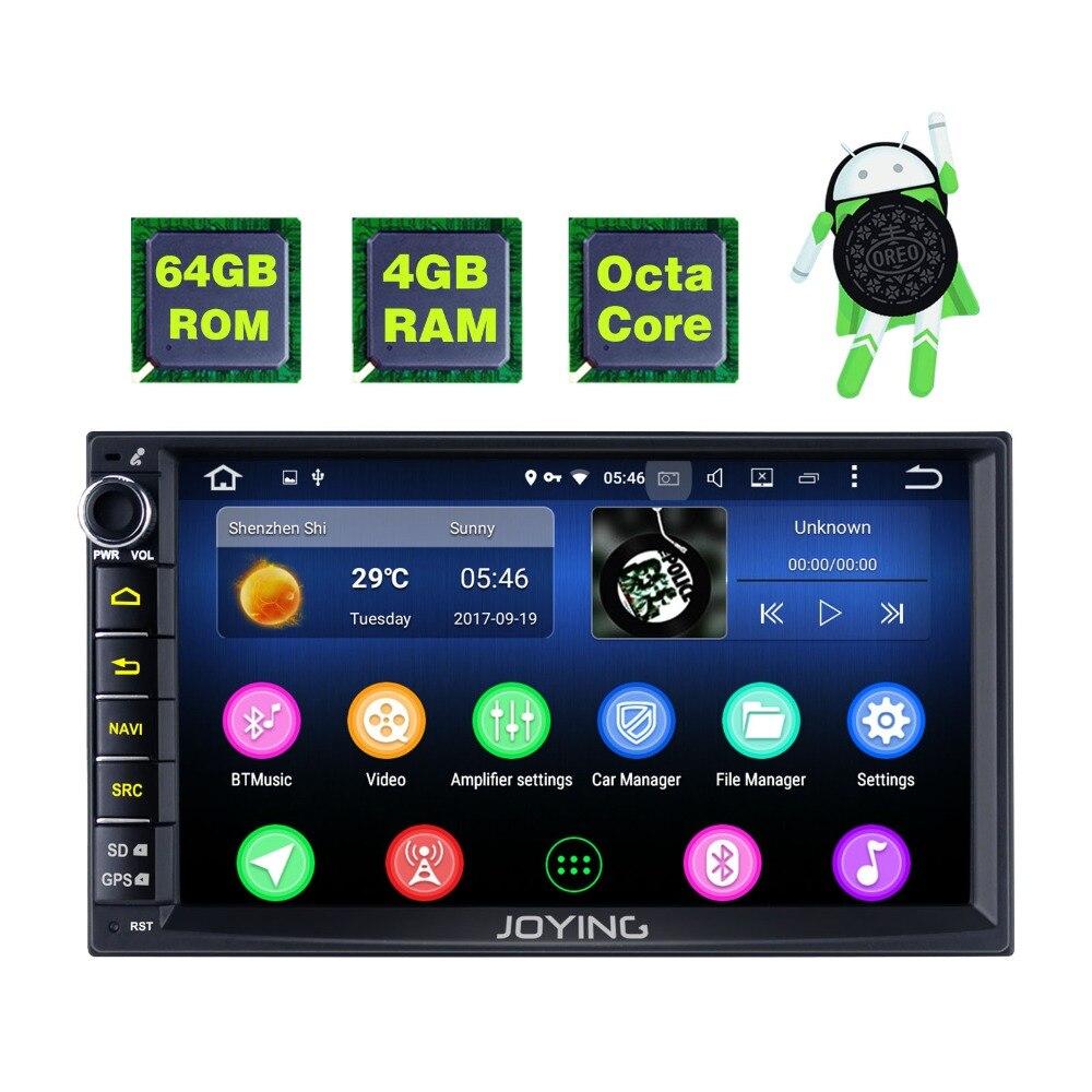 Новый продукт двойной 2 Din 4 ГБ + 64 ГБ головное устройство Android Универсальное автомобильное радио стерео Мультимедийный Плеер ленты регистрат...