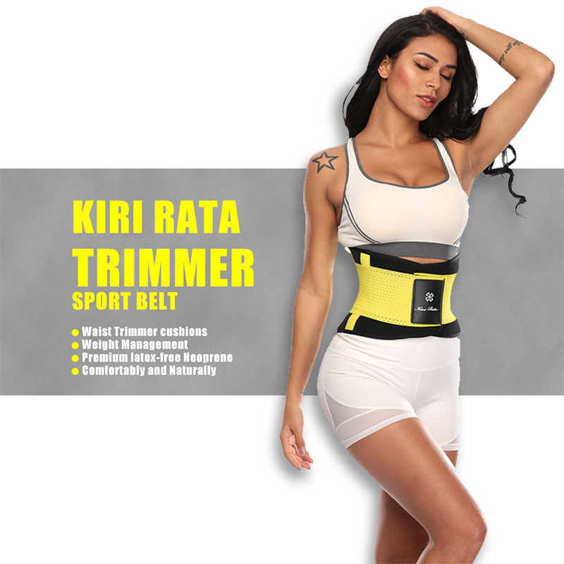 Fitness Belt Xtreme Power Thermo Body Shaper Waist Trainer Trimmer Corset Waist Belt Cincher Wrap Workout Shapewear Slimming