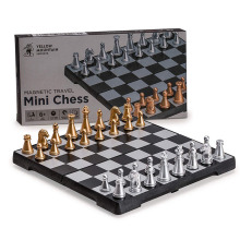 Chess-Set Board-Game Magnetic Travel Mini Foldable Gold Silver And