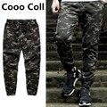 Мужская мода Бегунов Нить Камуфляж ноги случайные штаны с байкер эластичные брюки мужчины хип-хоп скейт kanye west jogger Cooo Coll