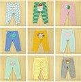 Calças do bebê do Algodão Bordado Temporada Idade das Crianças Broadcloth Animal Reta Meados Cintura Elástica Menino Unisex Leggings