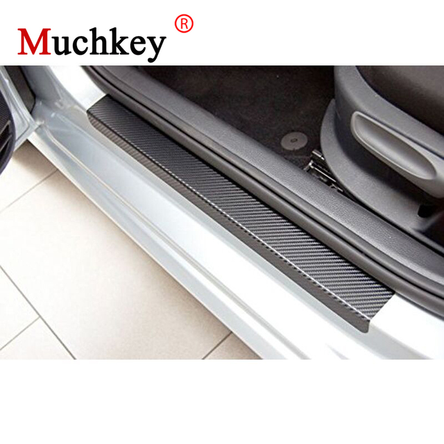 D Carbon Fiber Vinyl Sticker Door Threshold For Toyota Harrier Door