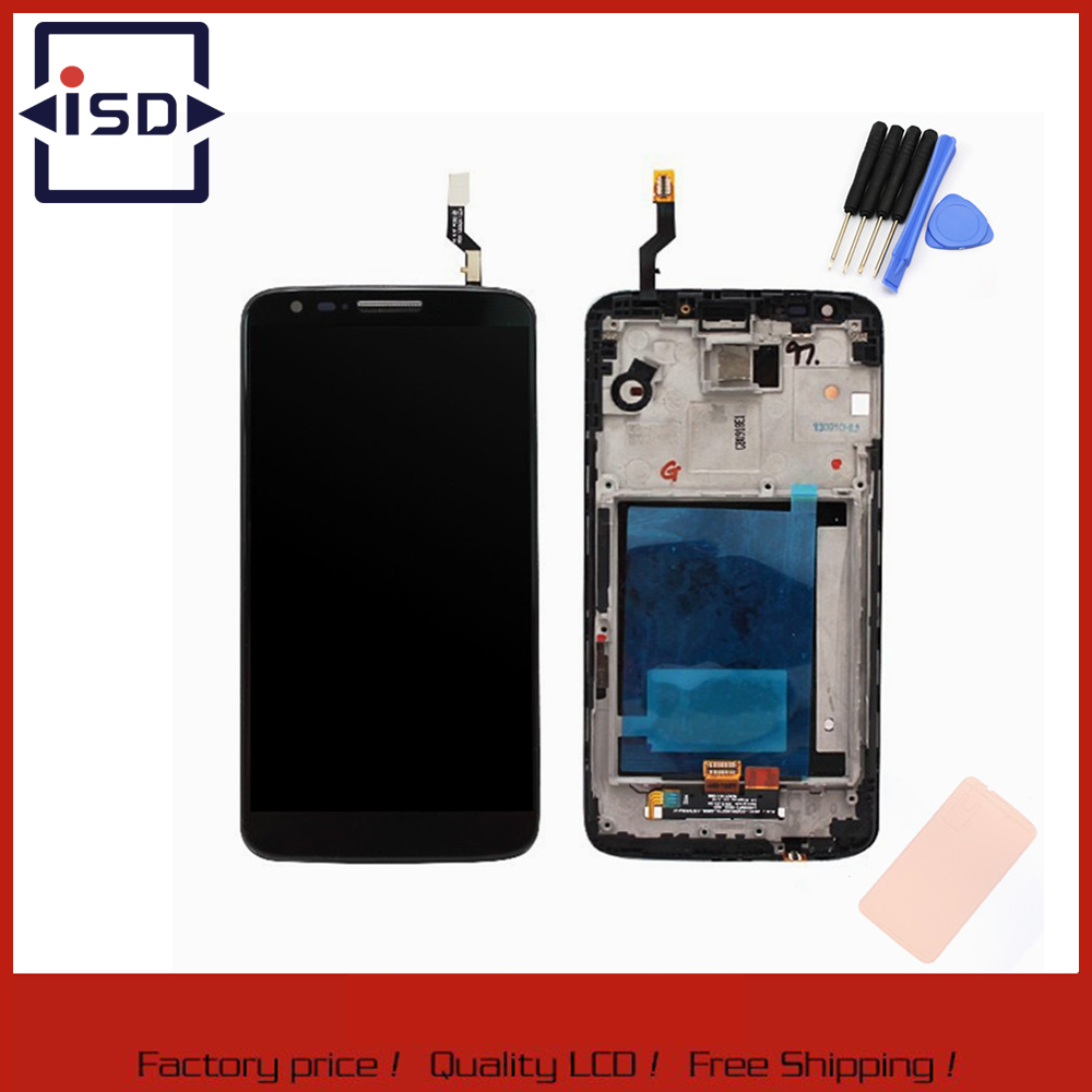 ФОТО For LG Optimus G2 F320 LCD Touch Screen with Digitizer + Bezel Frame + Tools Assembly,Black/White Replacement Free shipping