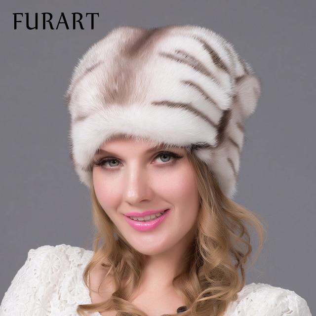 2016 натуральный мех норки шапки импортируется из цельного меха норки шляпа роскошная женская высокого класса шапка натурального меха шляпы леди женские зимние теплые Cap DHY-60A