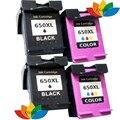 4 шт. Чернильный картридж для Совместимых HP 650 650XL Black & Color Ink картридж для HP 1015 1515 2515 2545 2645 3515 4510 4645 Printe