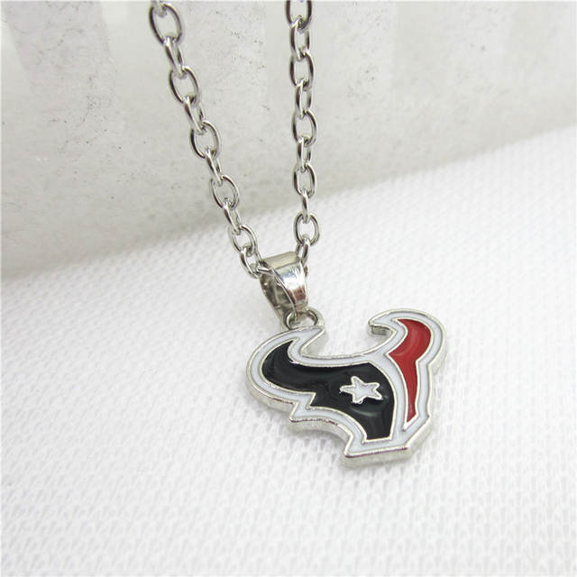 10pcslot football fan houston texans necklace pendants with 50cm 10pcslot football fan houston texans necklace pendants with 50cm chain us sports necklace jewelry mozeypictures Gallery
