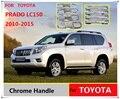 Для Toyota Land Cruiser Prado 150 LC150 Chrome Дверные Ручки Материалы Аксессуары Наклейки Стайлинга Автомобилей 2010 2012 2014 2015 FJ150