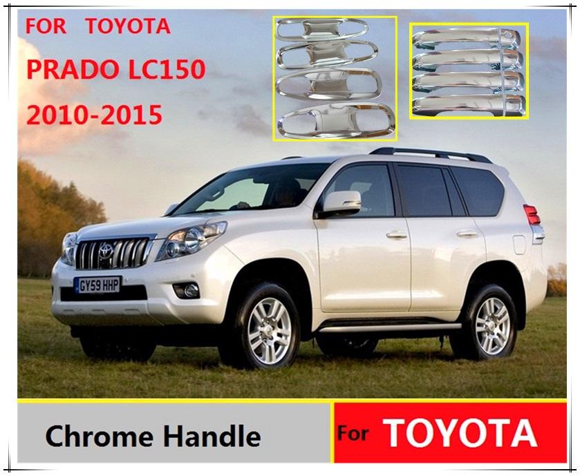 Prix pour Pour Toyota Land Cruiser Prado 150 LC150 Chrome Poignée De Porte Couvre Accessoires Autocollants De Voiture Style 2010 2012 2014 2015 FJ150