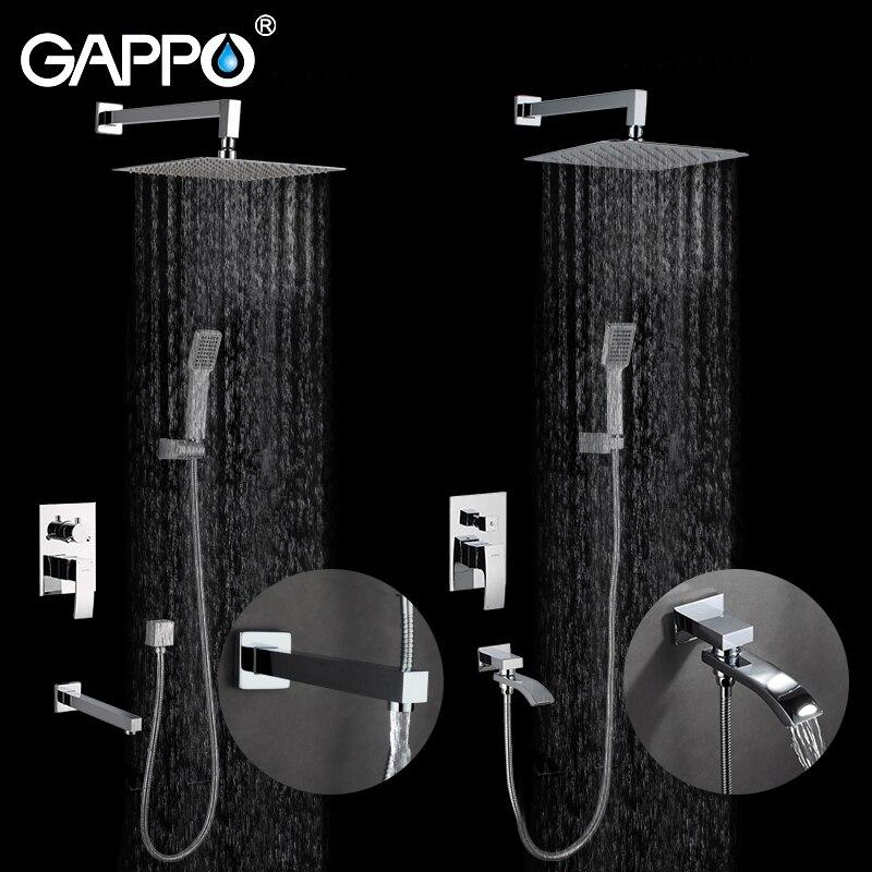 GAPPO настенный смеситель для ванной комнаты, латунный набор, смеситель для душа, смеситель для душа
