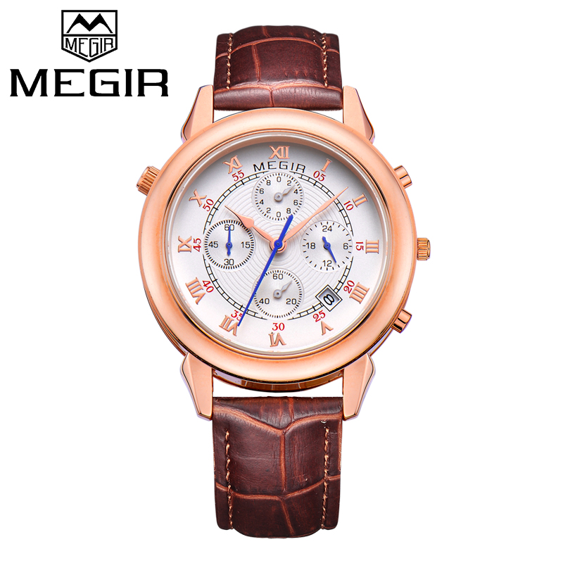 2018 MEGIR New Brand Man Sport Watch Mens Fashion Quartz Watches Men Causal Waterproof Wristwatch Male Clock Relogio Masculino new fashion mens watches gold full steel male wristwatches sport waterproof quartz watch men military hour man relogio masculino