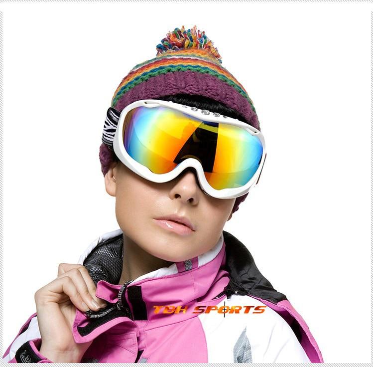 Северная волк ПК UV400 лыжные очки 3 слоя губки ТПУ кадров лыжные очки женские Бесплатная доставка (sku12050150)
