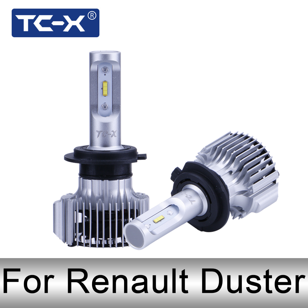 TC-X H1 H7 H11 Led Headlight bulbs For Renault Duster H1 High H7 Low Beam H11 fog Light Car LED 12v Bulbs Auto Replacement Lamp
