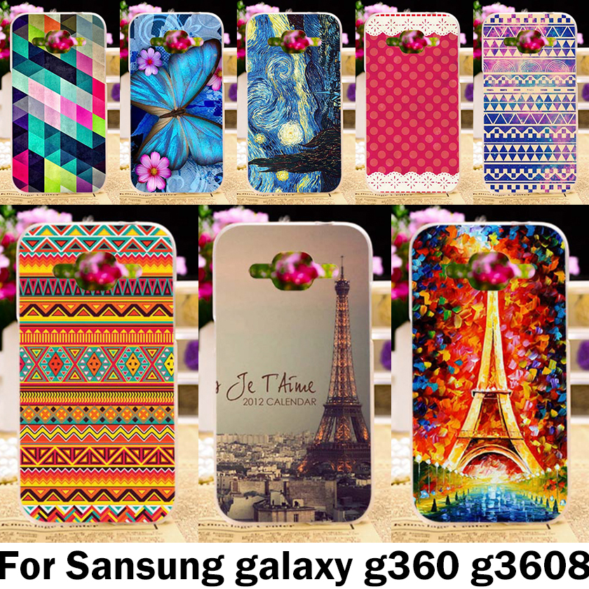 Eiffel Tower Mobile Phone Cases For Samsung Galaxy Core Prime G360 G3606 G3608 G3609 G361F G360H G360F G361H Case Covers Shell