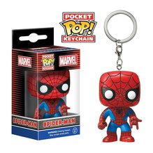 POP Nova chegada Personagens de Bolso Chaveiro Keychain Pop Spiderman Os Vingadores Marvel Spider man Action Figure Toy Modelo(China)