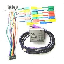Logic16 analizador lógico 100 M ARM FPGA herramienta decodificador R & D Herramientas Osciloscopios versión Mejorada caja de metal