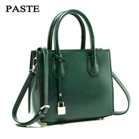 Women Genuine Leather Handbags PASTE Spring And Summer New Shoulder Bags Simple Fashion Leather Message Bag