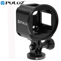 PULUZ Camera Housing Case Set Aluminum Alloy Protective Cage Metal Wrench Lens Cap Screw Tripod Adapter for 4S/5S Session