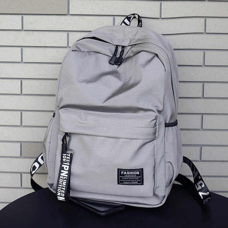 6cc9ee5ada School Nylon Solid Mochila Female Backpack Softback Travel Laptop Backpack  Mochila Feminina Kanken Teenage Girl Backpacks